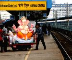 Ganesha idol being taken to its pandal