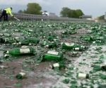 Lorry spills massive load of beer on German highway