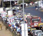 Traffic jam due to Rahul Gandhi's padyatra