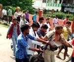 Policeman thrashes man
