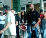 Singer Beyonce arrives in Udaipur