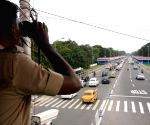 Security checks at Red Road ahead of 73rd Independence Day parade