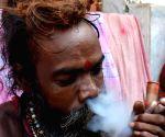 Sadhus arrive at Kamakhya Temple ahead of Ambubachi Mela