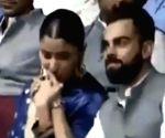 Virat Kohli flaunts Anushka's initials on t-shirt