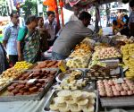 Sweets on sale on the eve of Bhai Dooj