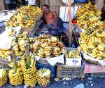 Vendor sells ahead of Eid ul-Fitr celebration