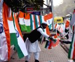 A vendor sale tricolor eve of the 72nd Republic Day
