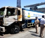 BPCL tanker catches fire