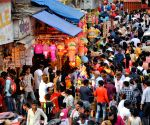 Diwali shopping - Crowded marketplace
