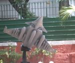 Replica of Rafale jet erected outside Air Chief Marshal B.S. Dhanoa's residence