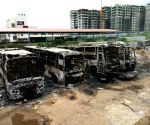 Buses torched