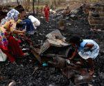 Fire guts Rohingya refugee camp in Delhi