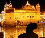 Golden Temple illuminated on the eve of Diwali
