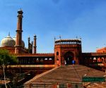 A view of Jama Masjid area during the Curfew day in New Delhi