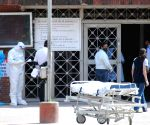 A view of LNJP  Hospital after lockdown  in National Capital in the wake of rising Covid-19 cases, in New Delhi