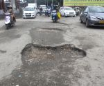 Potholes on Mysuru road