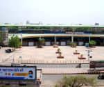 A view of Seelampur metro station after lockdown in National Capital in the wake of rising Covid-19 cases, in New Delhi