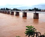 Tunga river after heavy rains