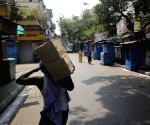 Re-polling at a Kolkata polling station - Deserted College Street Book Market