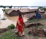 Bihar floods - Inundated Sitamarhi