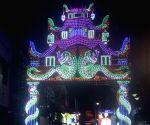 Light installations at Durga Puja