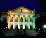 Illuminated Raj Bhavan on Independence Day eve