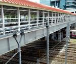 Re-built Elphinstone station footover bridge gets finishing touches