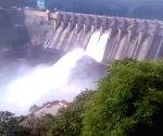 Flood gates of Srisailam project opened