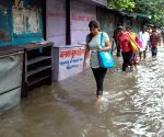 Waterlogged streets of Kolkata