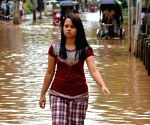 Waterlogged streets of Guwahati