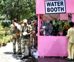 Water booth at EVM distribution center