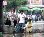 Affter rain in New Delhi road