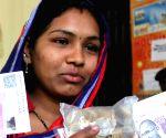 : (161116) Bengaluru: Indelible ink mark for demonetised cash exchange