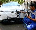 Flagging off ceremony of KONA Electric car by Hyundai Motor