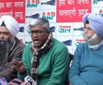 AAP Ashutosh addresses a press conference