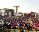 Arvind Kejriwal at AAP's public meeting