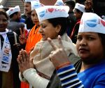 AAP set to return in Delhi, party workers celebrate