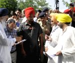 AAP demonstration against Punjab government