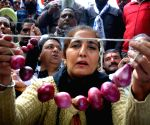AAP protest over rising onion prices