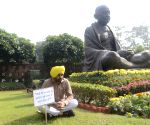 Aam Aadmi Party MP Bhagwant Mann at Parliament House