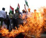 Aam Aadmi Sena activists protest AAP