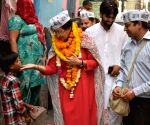 Atishi Marlena during election campaign