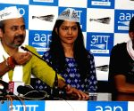 JNUSU-AAP joint press conference