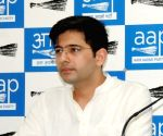 Raghav Chadha files nomination from Rajinder Nagar