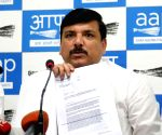 AAP MP Sanjay Singh attends Gehlot's swearing-in