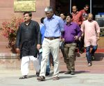 AAP leaders at Home Ministry
