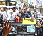 AAP National Convener and Delhi Chief Minister Arvind Kejriwal  hold the Road show for election campaign councilors  at Seelampur, in North East Delhi, India on Thursday 25th February 2021.