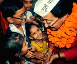 2019 Lok Sabha elections - AAP's Atishi Marlena during poll campaign