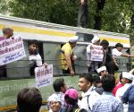 AAP demonstration against Smriti Irani