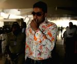 "Abhishek Bachchan returns after ""Padmashri Awards"" ceremony."